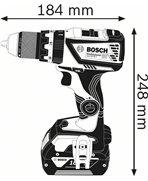 BOSCH GSB 18V-60 C 2x5,0Ah