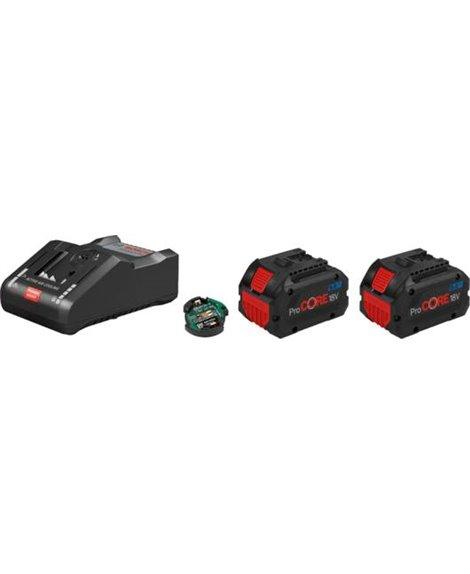 BOSCH Zestaw 2x akumulator GBA ProCORE 18V 8,0 Ah + ładowarka GAL 18V-160 C