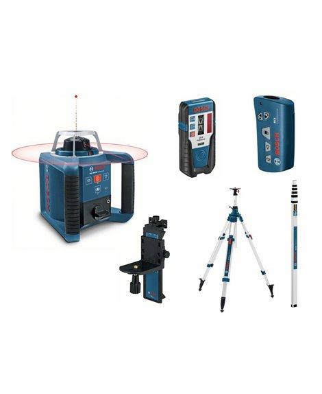 BOSCH Laser obrotowy GRL 300 HV + LR 1 + BT 300 HD + GR 240 Prof.