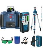 BOSCH Laser obrotowy GRL 300 HVG + LR 1G + BT 300 HD + GR 240
