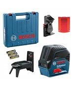 BOSCH Laser krzyżowo-punktowy GCL 2-15 + RM 1 + uchwyt sufitowy, walizka