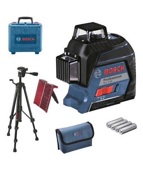 BOSCH Laser liniowy GLL 3-80 + BT 150