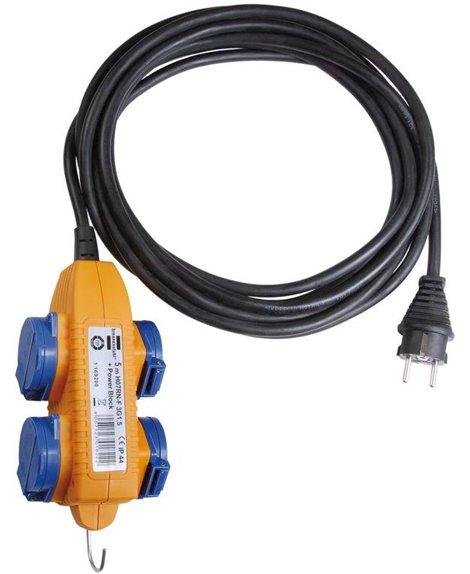 BRENNENSTUHL Przedłużacz Powerblock IP44 do zastosowań budowlanych 5m czarny H07RN-F 3G1,5