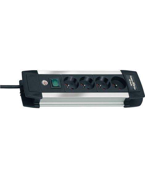 BRENNENSTUHL Listwa zasilająca Premium-Alu-Line 4 gniazda 1,8m H05VV-F 3G1,5