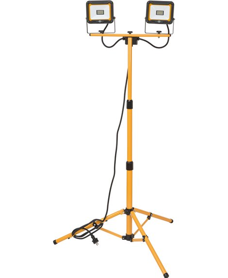 BRENNENSTUHL Lampa naświetlacz LED na statywie JARO 4000 T 2x2930 lm, 2x 20 W, IP65