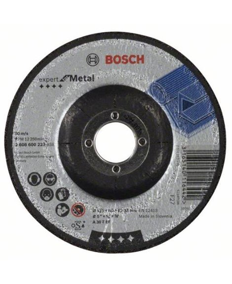 BOSCH Tarcza ścierna 125 x 22 x 6 mm A 30 T BF Expert for Metal