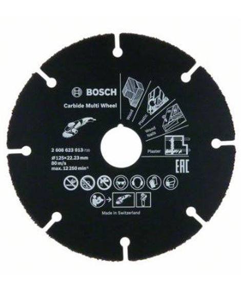 BOSCH Tarcza uniwersalna 125 x 22,23 mm Carbide Multi Wheel