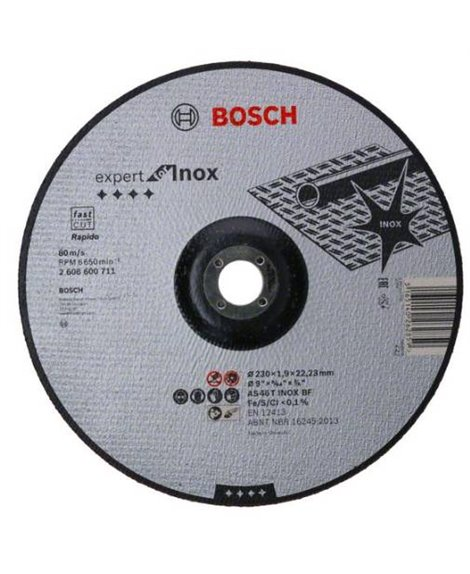 BOSCH Tarcza tnąca 230 x 22 x 1,9 mm Rapido AS 46 T INOX BF Expert for Inox