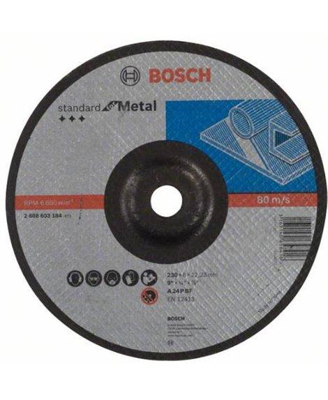 BOSCH Tarcza szlifująca 230 x 6 mm Standard for Metal LPP wyg. A 24 P BF