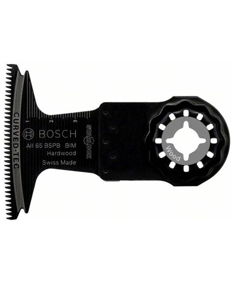 BOSCH Brzeszczot 40 x 65 mm BIM do cięcia wgłębnego AII 65 BSPB, Hard Wood