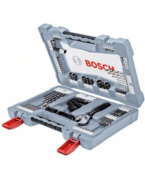 BOSCH 91-częściowy zestaw wierteł i końcówek wkręcających Premium X-Line