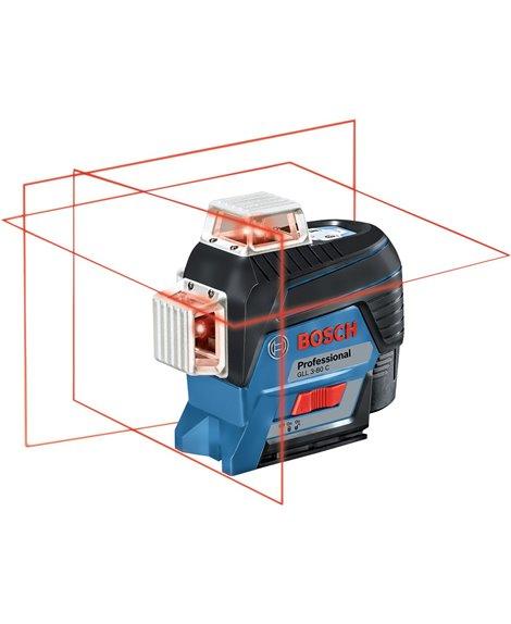 BOSCH Laser liniowy GLL 3-80 C + BM1 + LR7