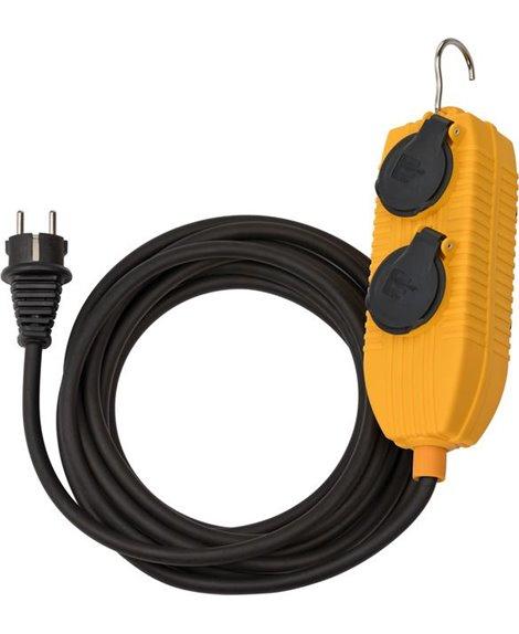 BRENNENSTUHL Przedłużacz Powerblock IP54 10m czarny H05RR-F 3G1,5 *FR/BE*