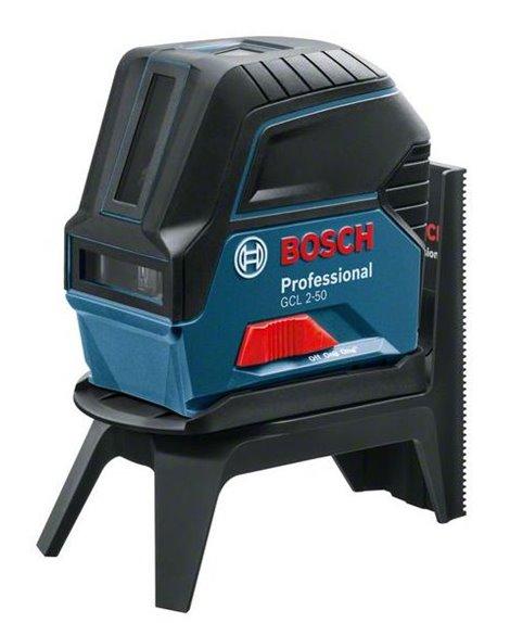 BOSCH Laser wielofunkcyjny GCL 2-50 + LR6 + Uchwyt do odbiornika + RM1