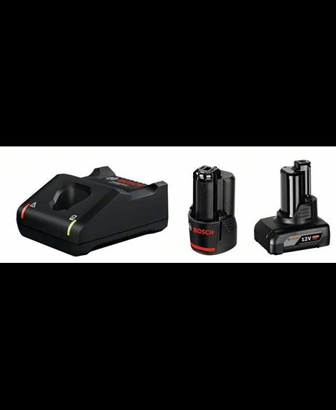 BOSCH Zestaw akumulator GBA 12V 2,0 Ah + GBA 12V 4,0 Ah + ładowarka GAL 12V-40