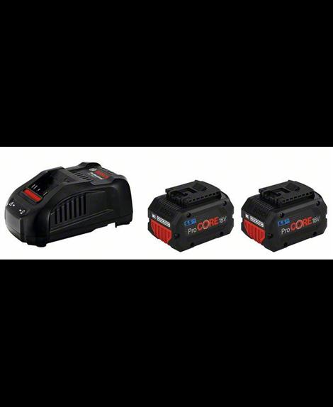 BOSCH Zestaw 2 akumulatory ProCORE18V 5,5 Ah + ładowarka GAL 1880 CV