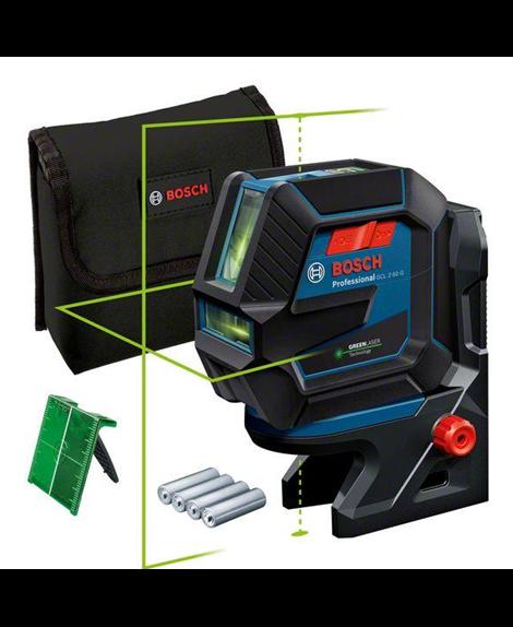 BOSCH Laser wielofunkcyjny GCL 2-50 G+ RM10 + pokrowiec + tarcza celownicza