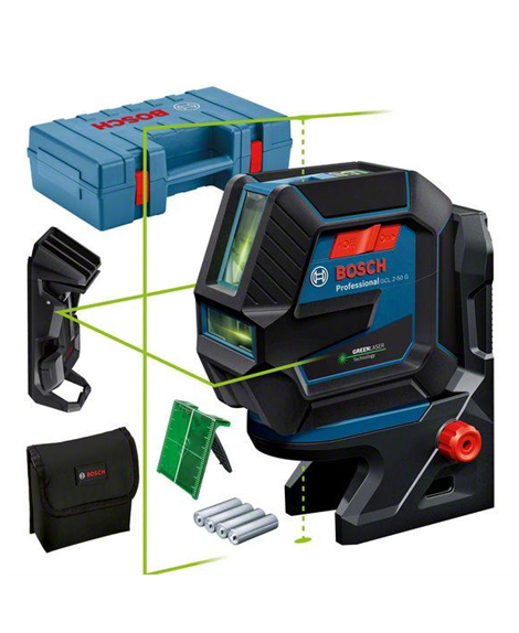 Laser wielofunkcyjny GCL 2-50 G + RM10 + zacisk sufitowy + tarcza celownicza + futerał
