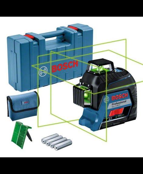 BOSCH Laser liniowy GLL 3-80 G + tablica celownicza + pokrowiec + futerał