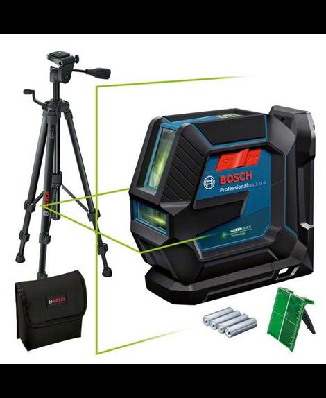 BOSCH Laser liniowy GLL 2-15 G + LB10 + BT150 + pokrowiec + tarcza celownicza