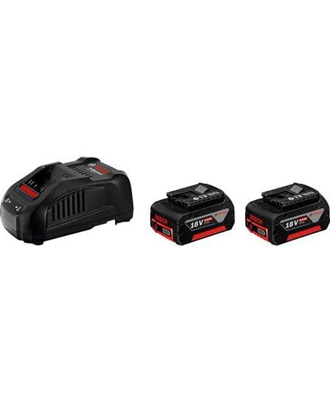 BOSCH Zestaw 2x Akumulator GBA 18V 5,0Ah + Ładowarka GAL 1880 CV
