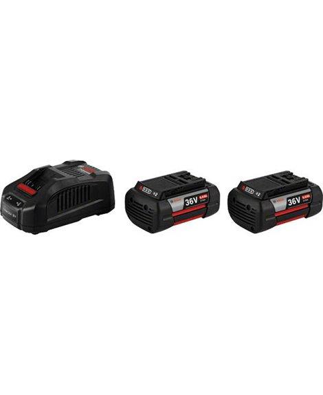 BOSCH Zestaw 2x Akumulator GBA 36V 6,0Ah + Ładowarka GAL 3680 CV