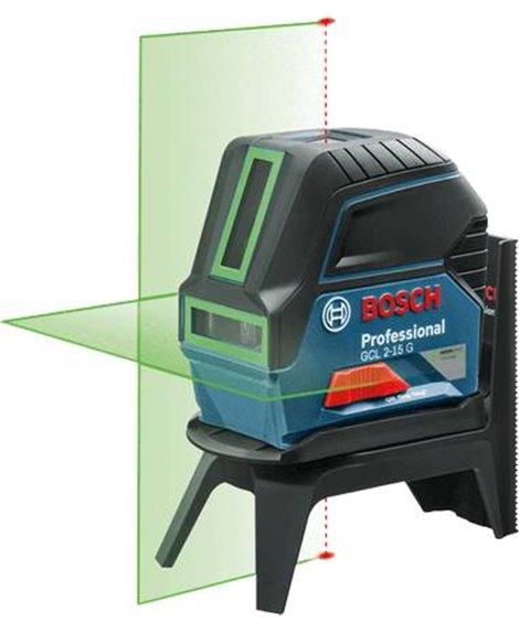 BOSCH Laser krzyżowo-punktowy GCL 2-15 G + RM 1
