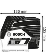 BOSCH GCL 2-50 C + RM2 + BT 150